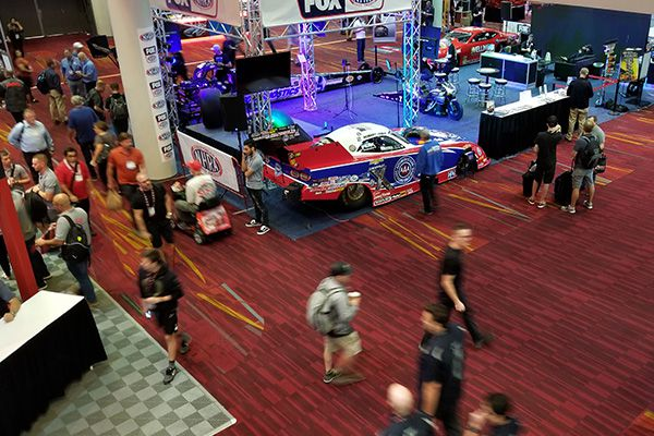 Anchor Harvey attends SEMA 2019